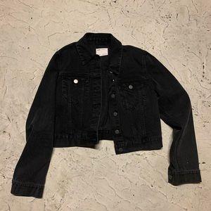 ASOS Black denim jean jacket l 10